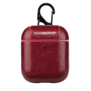 Vegan Leather AirPods Case - Red